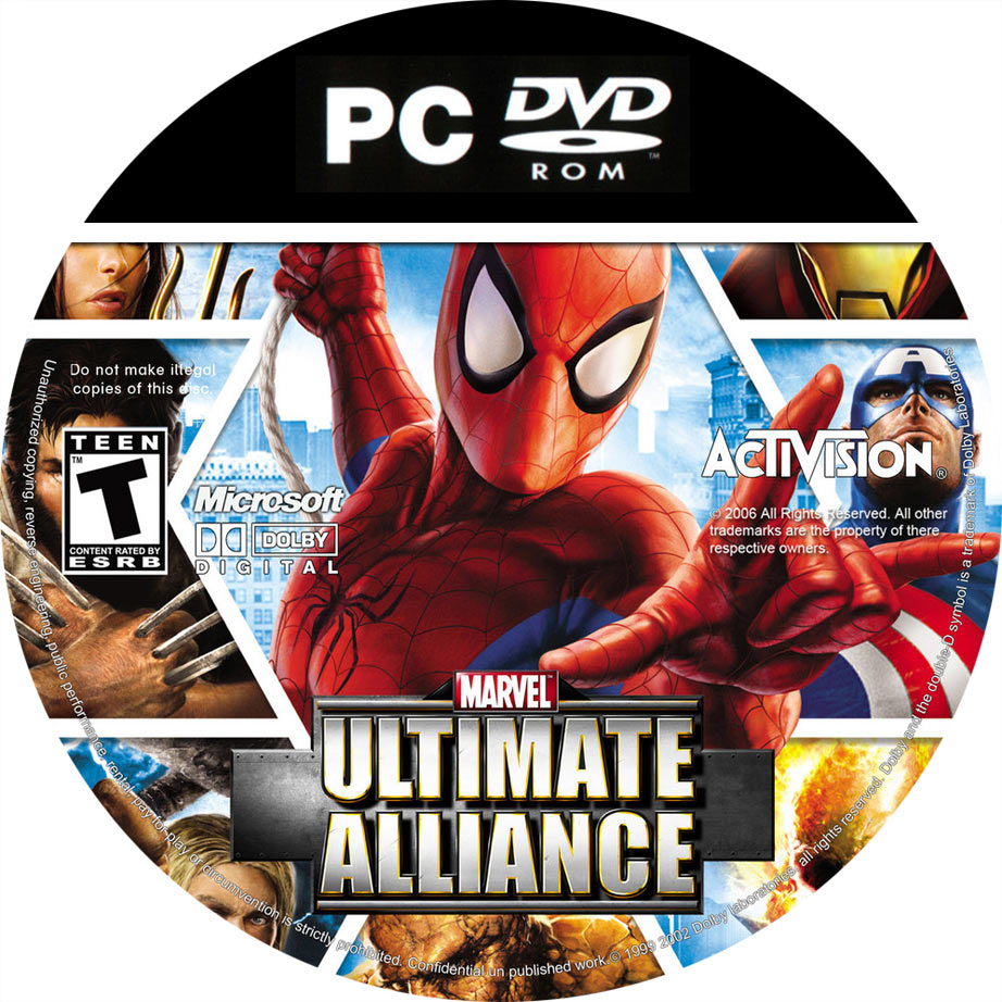 Marvel: Ultimate Alliance - CD obal