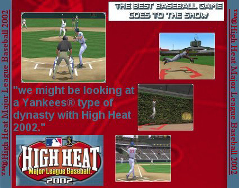 High Heat Major League Baseball 2002 - zadný CD obal