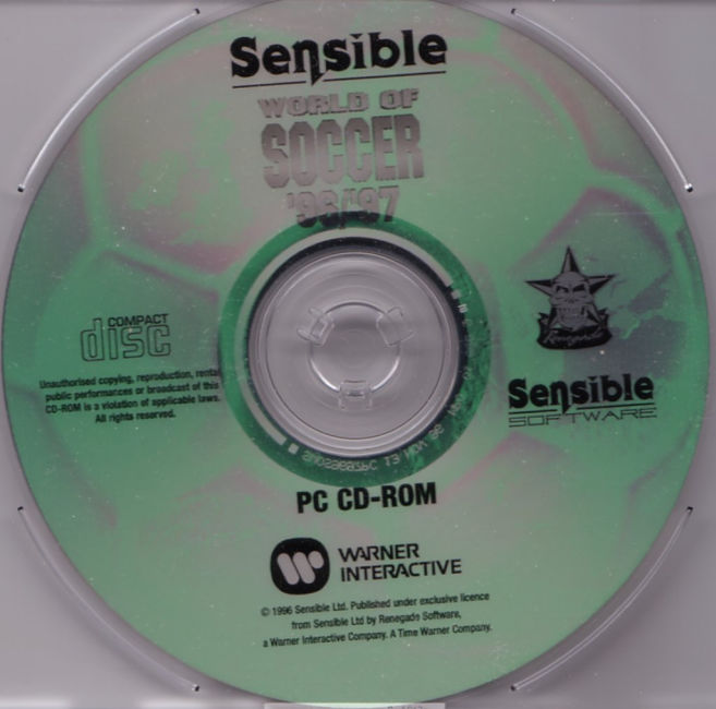 Sensible World of Soccer '96/'97 - CD obal
