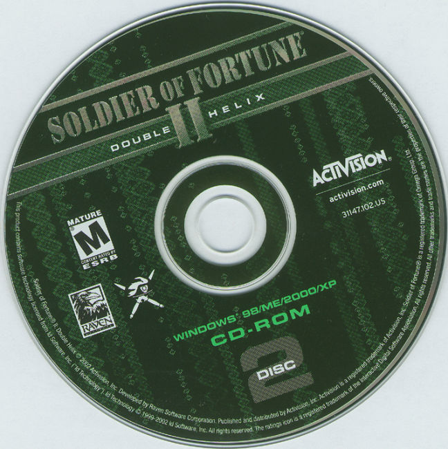 Soldier of Fortune 2: Double Helix - CD obal 2