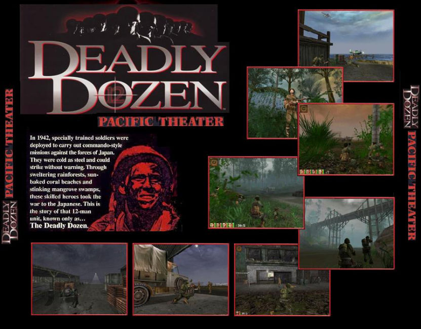 Deadly Dozen 2: Pacific Theater - zadný CD obal