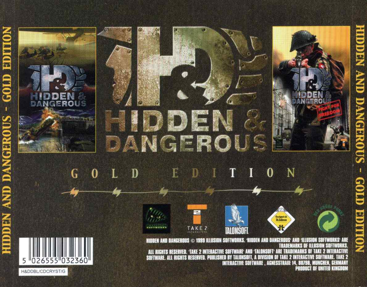 Hidden & Dangerous: Gold Edition - zadný CD obal