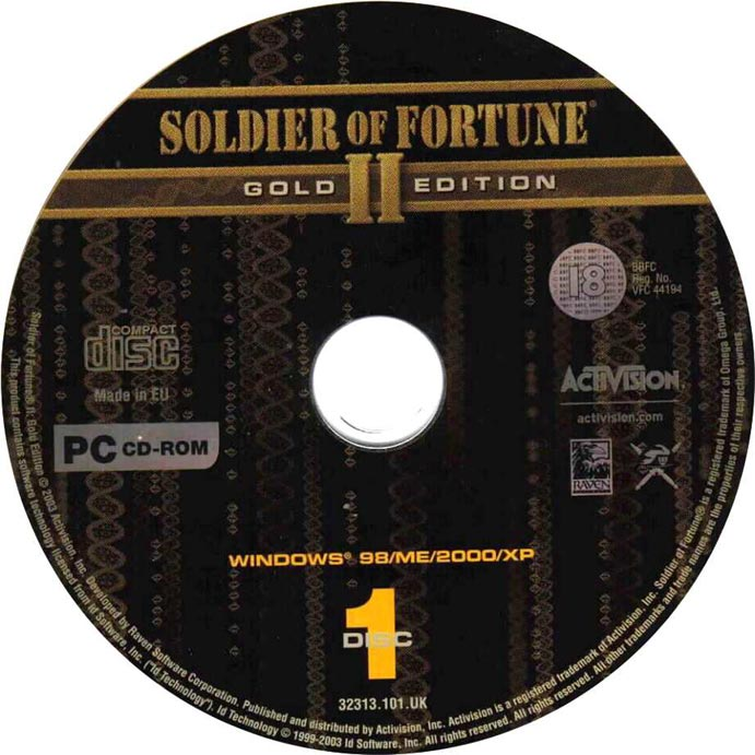 Soldier of Fortune 2: Gold Edition - CD obal