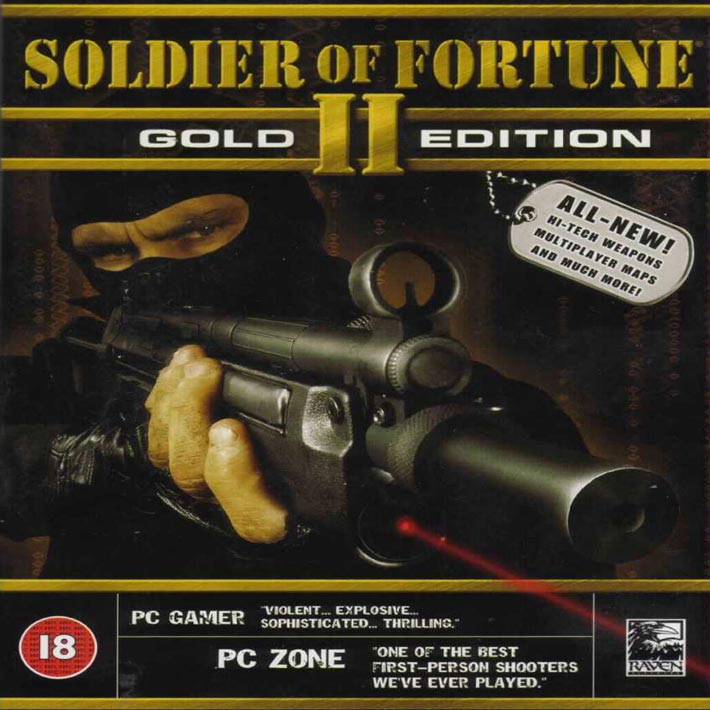 Soldier of Fortune 2: Gold Edition - predný CD obal