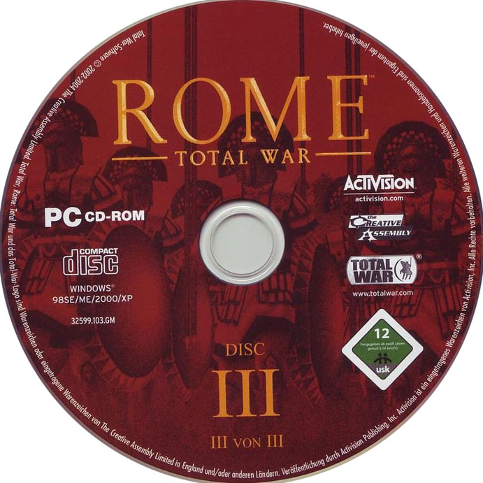 Rome: Total War - CD obal 3